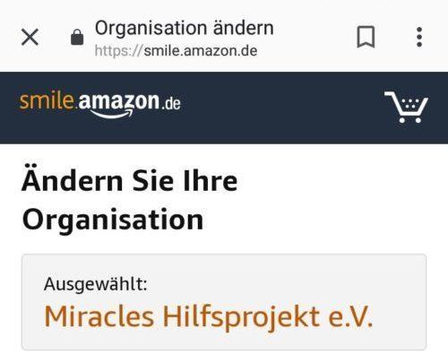 Weihnachtsshopping mit Smile.Amazon